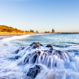 Town Beach, Port Macquarie by Tony Sullivan - Landscapes Beaches ( canon, water, australia, beach, long exposure )