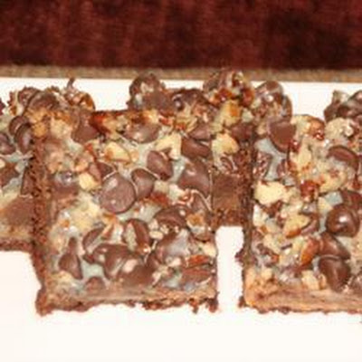 Chocolate Toffee Traybake Treats