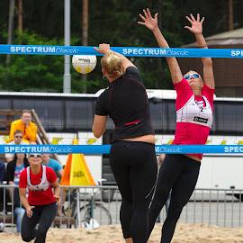 Beach volley by Simo Järvinen - Sports & Fitness Other Sports ( playing, ball, beach volley, sports, game, women )