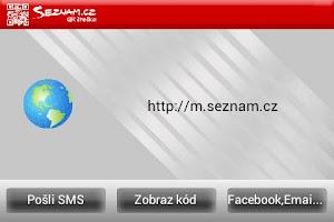 Screenshot of Seznam.cz qr reader