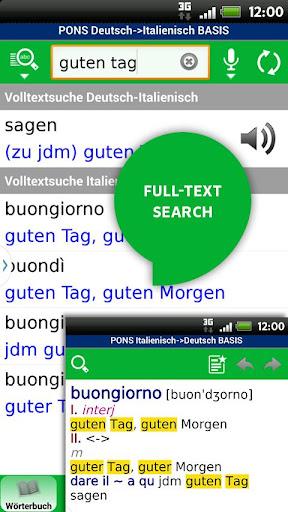 Wörterbuch Italienisch BASIS - screenshot