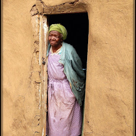 Wise old girl by Romano Volker - People Portraits of Women