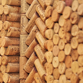 corks by Carmel Bation - Abstract Patterns ( wine corks, cork,  )
