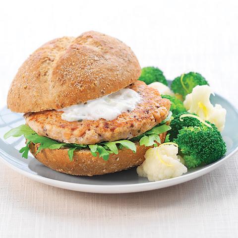 Salmon Burgers With Green Yogurt Sauce Recipes — Dishmaps