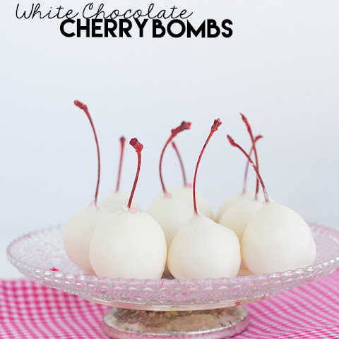 White Chocolate Cherry Bombs