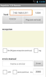 Repetidor TCP Remoto - screenshot
