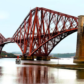Rail Forth Bridge by Vinod Chauhan - Transportation Railway Tracks ( water, scotland, sky, rail forth bridge, bridges, railway track )