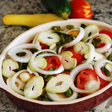 Summer Veggie and Green Chile Casserole