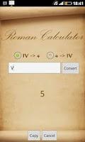 Screenshot of Roman Calculator (Converter)