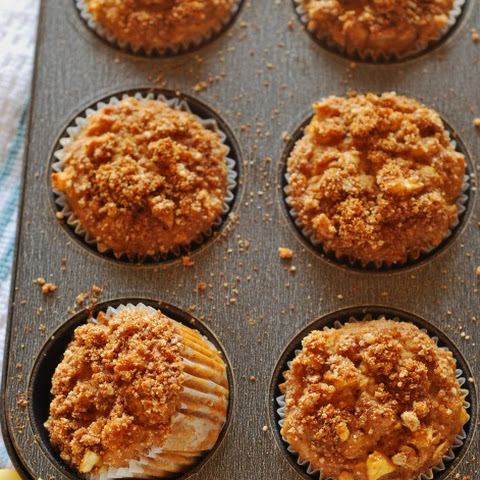 Apple Crumble Muffins (Gluten-Free, Vegan)