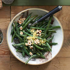 Green Beans with Toasted Hazelnuts and Lemon Zest