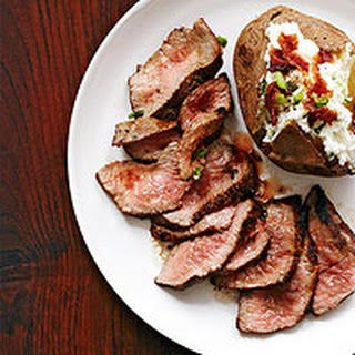 Pan-Seared Sirloin Tips with Goat Cheese Potatoes