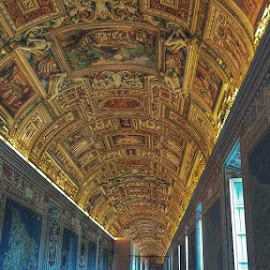 Ceiling at the Vatican by Ryan Sawicki - Buildings & Architecture Places of Worship