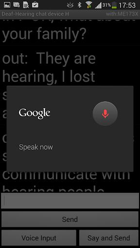 Deaf - Hearing chat device H - screenshot