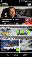 Screenshot of WRC – The Official App
