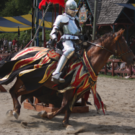 Jousting Knight 01 by Julie Berglund - Sports & Fitness Other Sports ( horses, knights, jousting, horse, medieval, knight, joust,  )