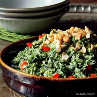 Creamed Coconut Curry Spinach