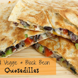 Loaded Veggie & Black Bean Quesadillas