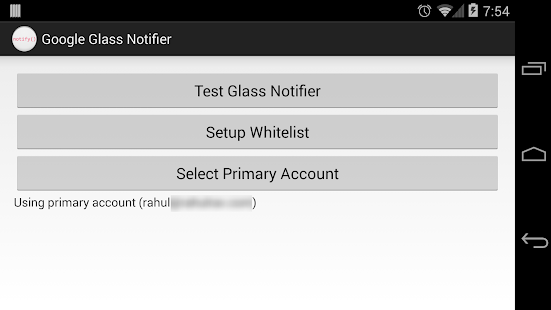 Google Glass Notifier - screenshot