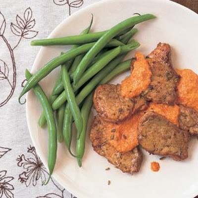 Pork Medallions with Romesco Sauce