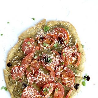 Tomato, Pesto, Balsamic Flatbread