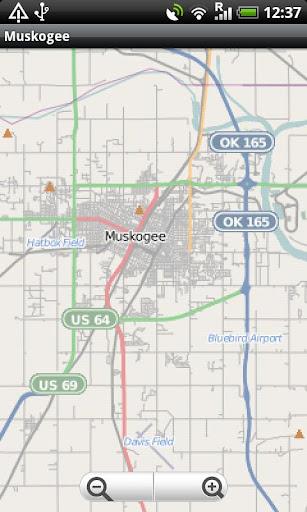 Muskogee OK Street Map