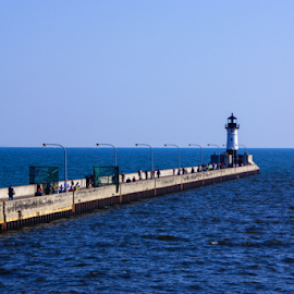 Light House by Tina Hailey - Buildings & Architecture Architectural Detail ( light house, duluth mn, tinas capture moments, water bridge )