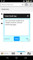 Screenshot of Tweet Small App for Xperia
