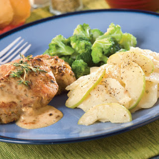 Dijon Thyme Pork With Scalloped Potatoes and Apples