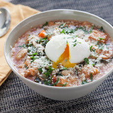 Tuscan Ribollita Soup with Soft-Boiled Farm Eggs & Lacinato Kale