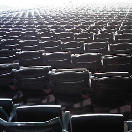 Seats by Nibia Orona - Artistic Objects Furniture ( start of game, rows of seats, baseball, end of game, layers, empty seats, seats, empty layers, layers of seats, rows,  )