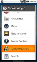 Screenshot of RainbowBattery