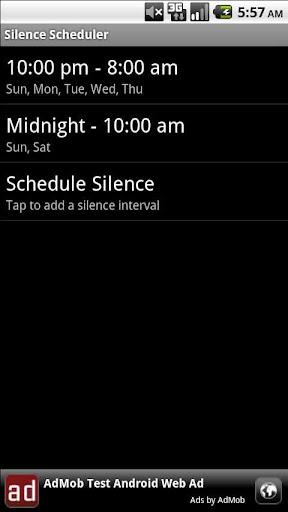 Silence Scheduler