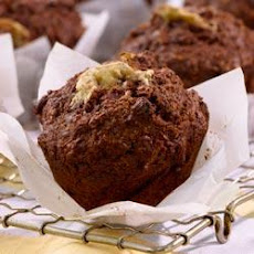 Low-Fat All-Bran Banana-Cocoa Muffins