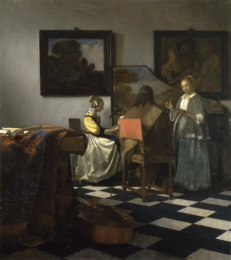 ... Vermeer's painting <i>The Concert</i>. One of only 36 by Vermeer in existence, this painting is the most valuable stolen painting—and perhaps the most valuable stolen object—in the world.