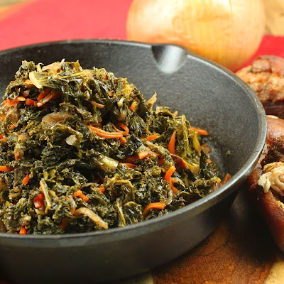 Slapilicious Collard Greens with Smoked Pig Shank