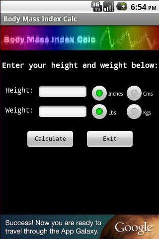 Body Mass Index Calc