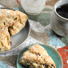 Cranberry Scones with Lemon Glaze