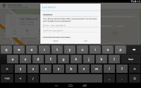 Android Geräte-Manager Screenshot