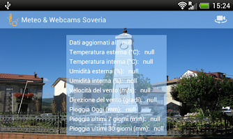 Screenshot of Meteo & Webcams Soveria