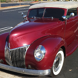 1940 Convertable by Ed Hanson - Transportation Automobiles ( car, old, red, convertable, chrome )