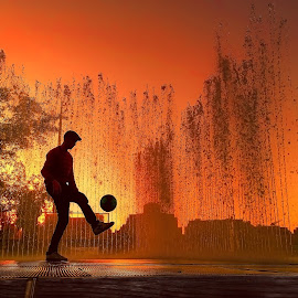 Soccer Or Die & LumiaXNatGeo  by Peter Velisek - Sports & Fitness Soccer/Association football ( hdr, sunset, street, action, socce, people, colours )