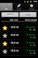 Screenshot of Windsurfing Calculator