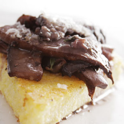 Pan-seared Polenta with Mushrooms