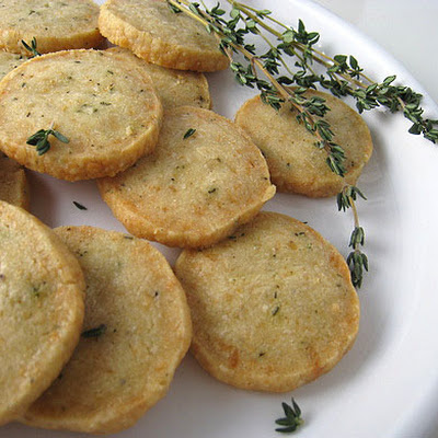 Parmesan Thyme Crackers
