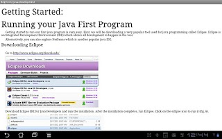 Screenshot of Beginning Java Programming