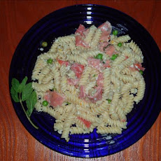 Pasta With Prosciutto in a Lemon Cream Sauce