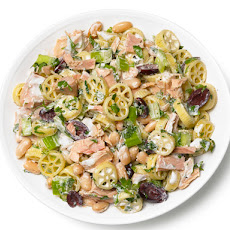 Pasta Salad With Tuna, Celery, White Beans and Olives