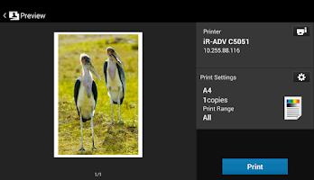 Screenshot of Canon Mobile Printing