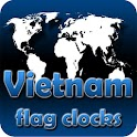 Vietnam flag clocks icon